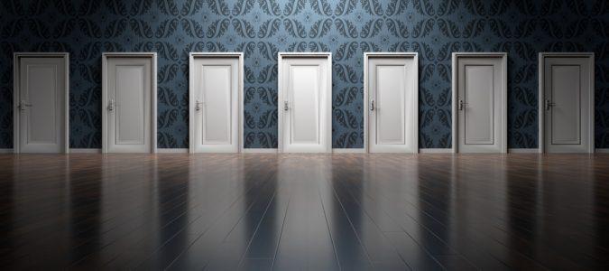 A row of doors